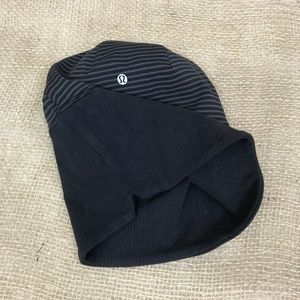 Lululemon Run With Me Toque Black/Stripe Reverse